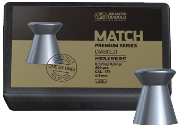 Diabolky JSB Match Premium Middle 4,52mm 200ks