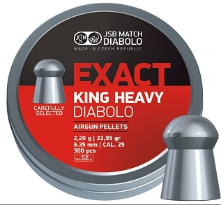 Diabolo JSB Exact King Heavy cal. 6,35mm /300ks/