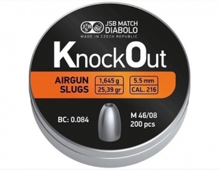 Diabolo JSB KnockOut Slugs 5,5mm 200ks
