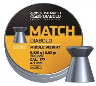 JSB Match Middle weight 4,49mm 500ks