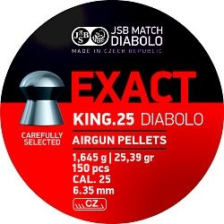 Diabolo JSB Exact King cal. 6,35mm /350ks/